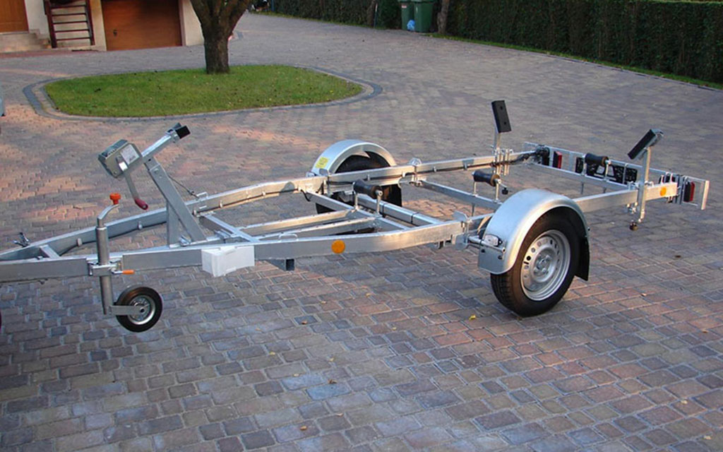 Boat trailer with approval